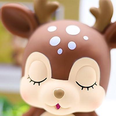 MASSJOY Deer Child Piggy Bank, Boy and Girl Cartoon Drop-Proof Piggy Bank, Children's Day Gift. : Baby