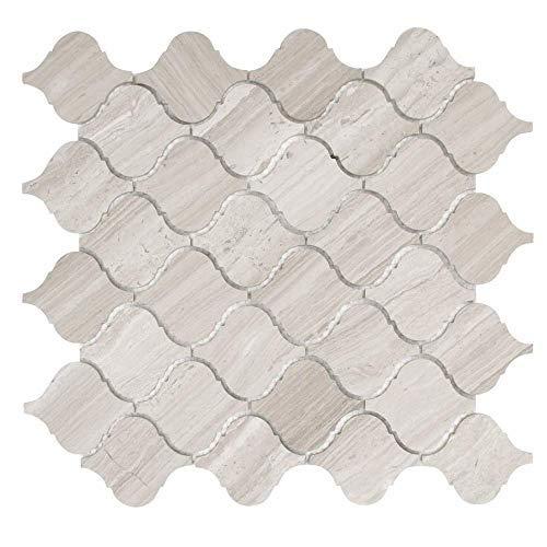 "MAYKKE Lovisa 10-Pack Arabesque Mosaic Wall and Floor Tile 12"""