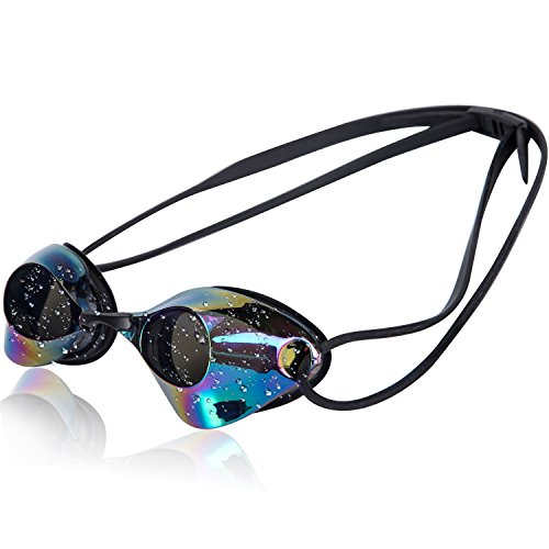 Actorstion Swim Goggles With Anti Fog UV Protection No Leaking Shatterproof for Adult Men Women Youth Kids Children + Goggles Case, Silicone Ear Plugs and Interchangeable Nose Bridge