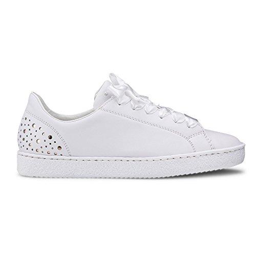 L4829 Weiß Cordones de Weiß Blanco Rieker Sintético Zapatos 80 de Mujer Material Para dxIqwB7tq4