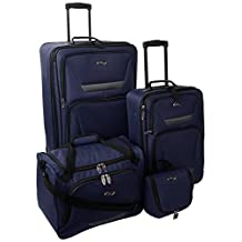 Traveler's Choice U.S. Traveler Westport 4-Piece Luggage Set, Navy, One Size
