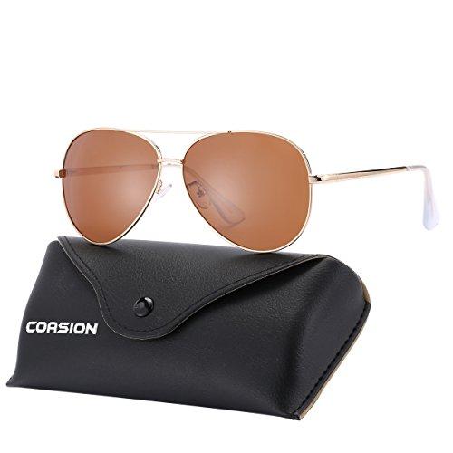Amazon.com: Gafas de sol polarizadas de aviador para cara ...
