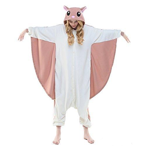 Bananas In Pyjamas Halloween (NEWCOSPLAY Flying Squirrel Costume Sleepsuit Adult Pajamas (S, Flying)
