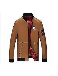 J-SUN-7 Mens Casual Stand Collar Zipper Trench Coat Jacket