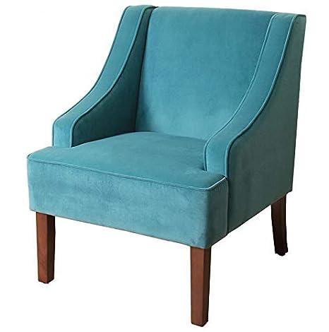 Amazon.com: Hebel Swoop Arm Solid Accent Chair | Model ...