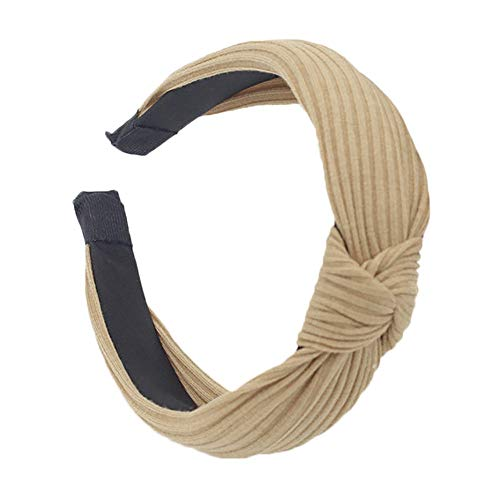 - NEEKEY Womens Headbands Women Fashion Headband Twist Hairband Bow Knot Cross Tie Headwrap Hair Band Hoop(Free Size,Khaki)