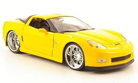 Chevrolet Corvette Z06 Tuning Amarillo 2006 Modelo De Auto