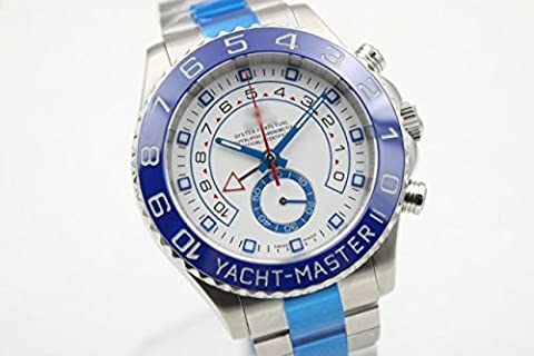 Luxury Brand Top Automatic Silver/blue bezel color Stainless steel watches watch (Rolex Color)