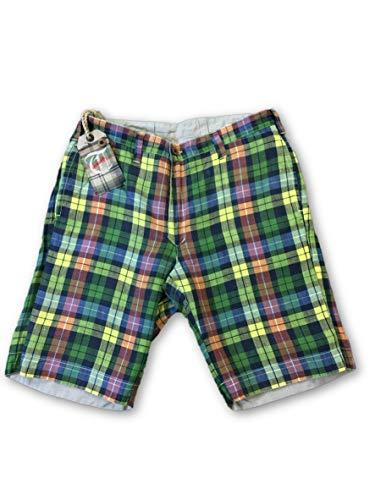 Size Reversible Vintage Plaid Colour Cotton Shorts Multi Tailor W32 In OZnvawq