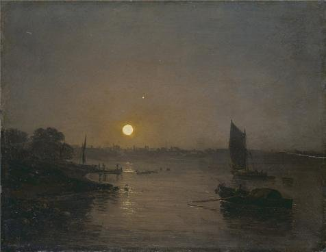 'Joseph Mallord William Turner - Moonlight A Study At Millbank, 1797' Oil Painting, 18x23 Inch / 46x59 Cm ,printed On Perfect Effect Canvas ,this High Definition Art Decorative Prints On Canvas Is Perfectly Suitalbe For Foyer Artwork And Home Artwork And Gifts (Oz Park Chicago Halloween)