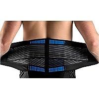SUAVER Neopreno Deluxe Doble Halar Lumbar inferior de la espalda apoyo de la ayuda Cinturón de ejercicio Alivio del dolor
