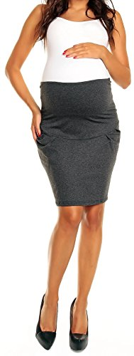 Happy Mama Women?s Smart Pregnancy Maternity over Bump Panel Tulip Skirt 022p