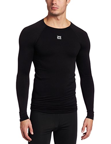 Zensah Long Sleeve Compression Shirt - Best Compression Shirt - Thermal Base Layer - Sun Protection Black