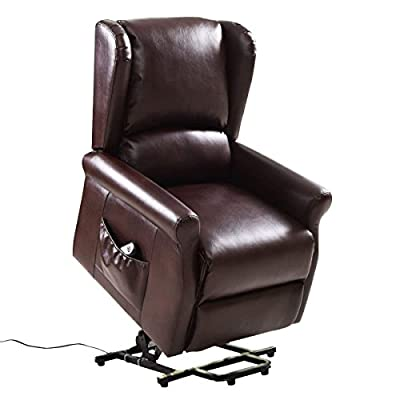 Giantex Lift Chair Electric Power Recliners Reclining Chair Fabric/PU Leather Living Room Furniture with Remote