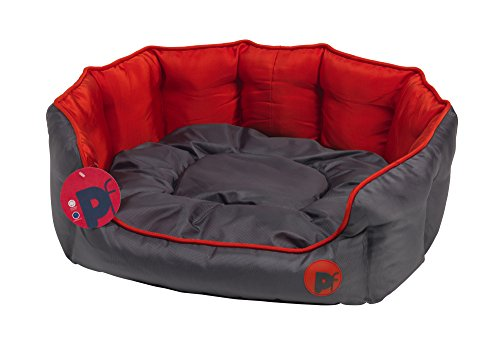 Petface Oxford Oval Dog Bed, X-Large, Red