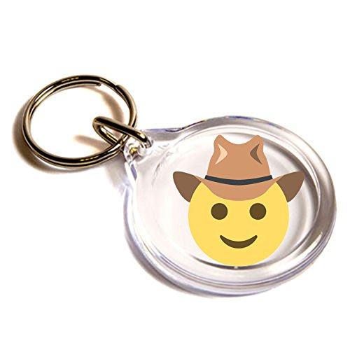 Face With Cowboy Hat Emoji Key Ring