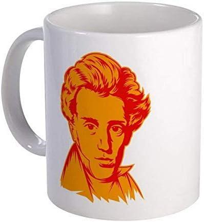Photo Coffee Mugs Strk3 Soren Kierkegaard - Taza de cerámica para café o té (325 ml), color blanco