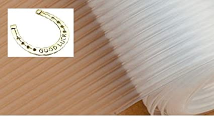 Skywalk Durable Eva Plastic Anti-Slip Mat / Sheet - For Kitchen, Shelf, Drawer, Liner, Size:- 45 X 125 Cm(Transparent/White Color)