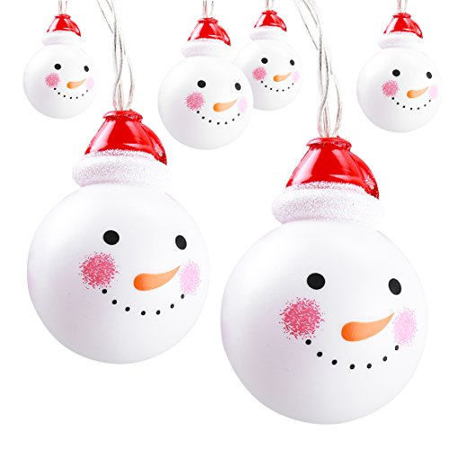 Christmas Decorations Snowman String Lights | 10 Snowman LEDs 5.5ft | SILIVN