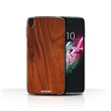 STUFF4 Phone Case / Cover for Alcatel Idol OneTouch 3 5.5 / Mahogany Design / Wood Grain Effect/Pattern Collection