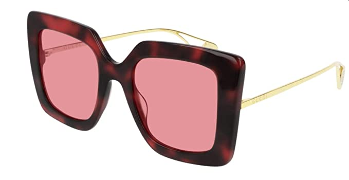 Amazon.com: Gafas de sol Gucci GG 0435 S- 005 HAVANA/PINK ...