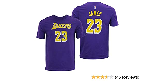 9e556b7a1 Amazon.com   NBA Youth Los Angeles Lakers Lebron James Player Tee ...