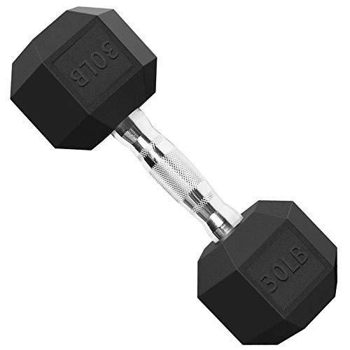 Balelinko Hex Dumbbells Set Free Weight Rubber Coated Cast Iron Dumbbell in Singles (5lb, 15lb, 20lb, 25lb, 30lb, 35lb…