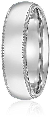 Standard-Comfort-Fit-10K-Gold-Milgrain-Wedding-Band-6mm