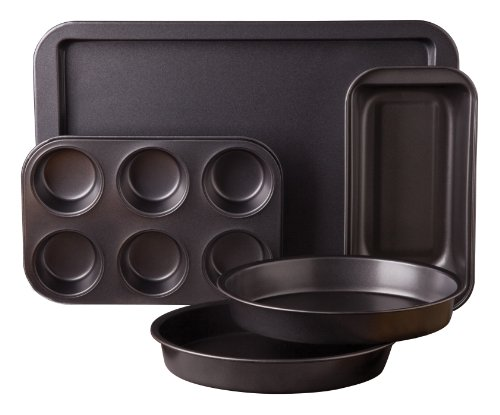 - Sunbeam 76893.05 Kitchen Bake 5-Piece Bakeware Set, Carbon Steel