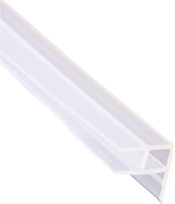 Mintice joint de porte de bain paroi de douche joint de fen/être incurv/é forme droite ou incurv/ée appartement caoutchouc verre bas M/ét/éo 8mm 39 pouces Forme de U