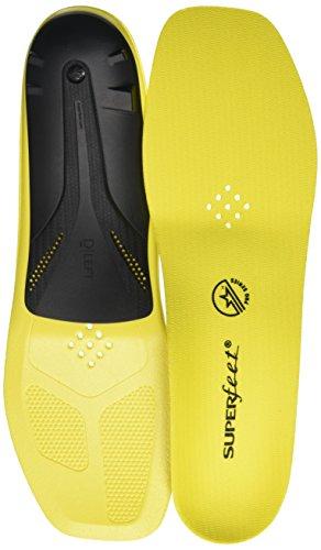 Superfeet Carbon Pro Hockey Shoe Insoles, Blaze Yellow, Medium D: Skate 7-8
