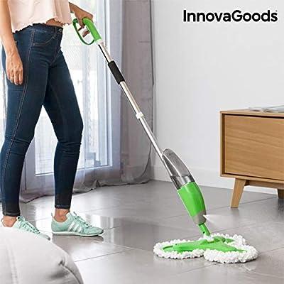 InnovaGoods Mopa Triple con Pulverizador, Blanco y Verde, Unitalla ...