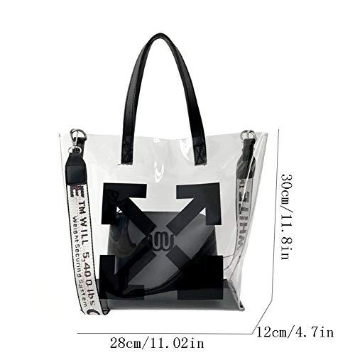 Tote Borse Borsa Olografica Bags Pvc Capacità Da Black Jelly Trasparente Clutch Da Donna Grande Donna Pochette Bag qAwSSgxX