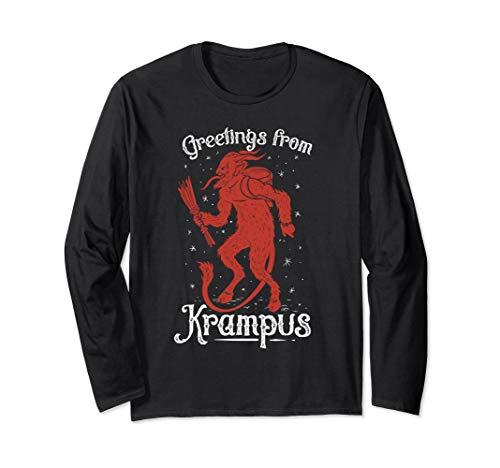 Krampus Anti Saint Nicholas Emo Santa Claus T-Shirt