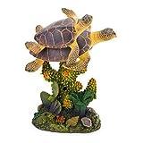 Penn Plax Swimming Sea Turtle Aquarium Figure - Medium - 3L x 4.5H in.