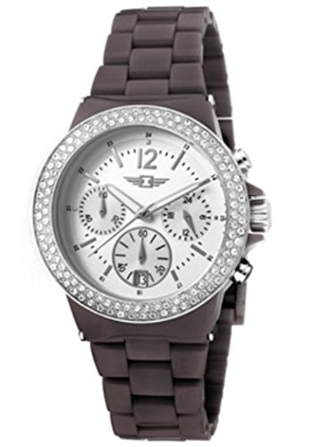 Invicta Women's Chronograph Silver Dial Date Fashion Brown Band Date Watch 43944-005