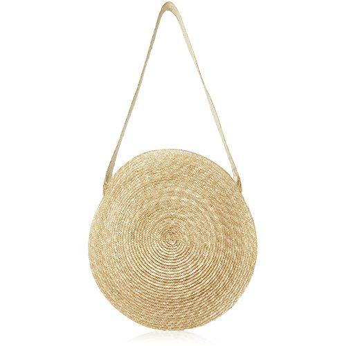 Borse Vintage Cerchio Summer Borsette Donna Lusso Di Meaeo Spiaggia Messenger Borsa Per Paglia Donne Viaggi Grande Da fnBOHq