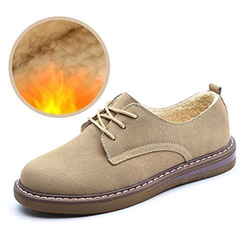 07b71d1fb0c98 Khaki Mocassins de Flats Daim Chaussures Chaussures Rondes 989 Sport  Automne Bateaux Femmes de Femmes Lacets