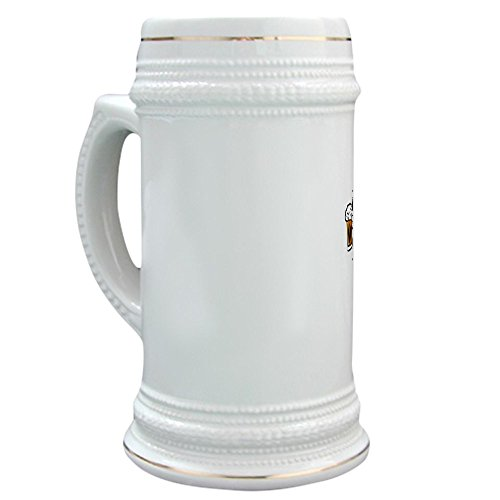 Gold Trophy Halloween Costume (CafePress - Here For The Boos - Beer Stein, 22 oz. Ceramic Beer Mug with Gold Trim)