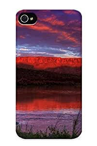 Crazinesswith High-end Case Cover Protector For Iphone 4/4s(canyons At Dusk)