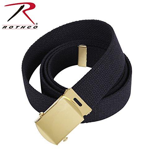 Rothco Military Web Belts, Black/Gold, 54