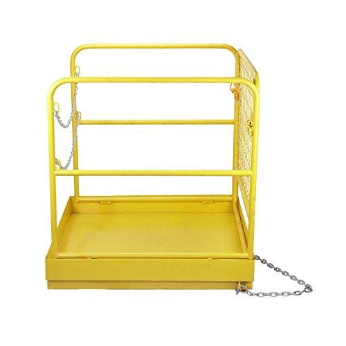 BEAMNOVA Forklift Safety Cage Work Platform Collapsible Lift Basket Aerial Rails 36''x36'' by BEAMNOVA (Image #2)