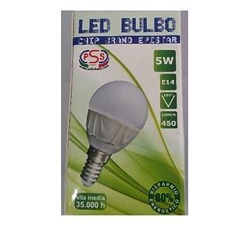 Bombilla LED tipo bulbo, casquillo E14, luz cálida 3000K: Amazon.es: Iluminación