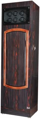 Volta 31-560321 Rustic Rosewood and Ebony Wood Speed Winding Technology Watch Winder