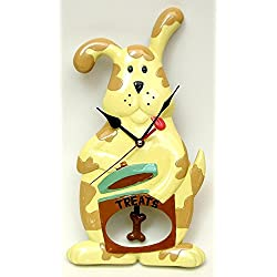 Whimsical Dog Clock - Unique Modern Wall Pendulum