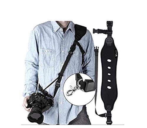 Jungleland Camera Strap Rapid Fire Camera Neck Strap Quick Release and Safety Tether Shoulder Strap for Nikon D500 Canon Sony Black