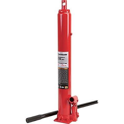 Strongway Hydraulic Long Ram Jack - 3-Ton Capacity, Single Piston, Flat Base