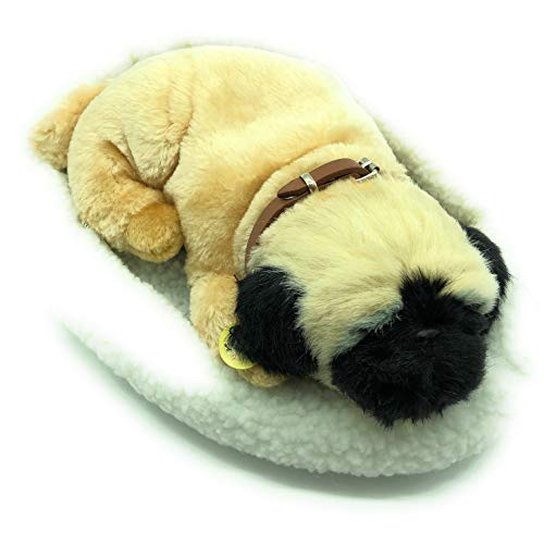 Griff's Sleeping Cuddly Pug Puppy with Bed