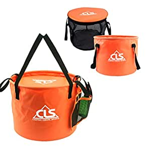 LOVEHIKE 30L/8 Gallon Portable Premium Compact Collapsible Bucket Folding Water Container - Lightweight & Durable with Handy Inside Mesh Bucket and Side Tool Mesh Pocket