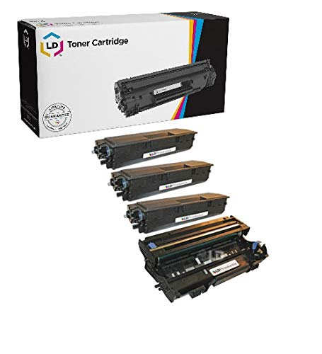 (LD Compatible Toner Cartridge & Drum Unit Replacements for Brother TN460 High Yield & DR400 (3 Toners, 1 Drum, 4-Pack))